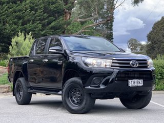 2016 Toyota Hilux GUN126R SR Double Cab Black 6 Speed Sports Automatic Utility