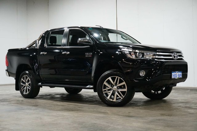 Used Toyota Hilux GUN126R SR5 Double Cab Welshpool, 2018 Toyota Hilux GUN126R SR5 Double Cab Eclipse Black 6 Speed Sports Automatic Utility