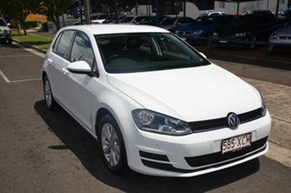 2013 Volkswagen Golf AU MY14 90 TSI Comfortline White 7 Speed Auto Direct Shift Hatchback.