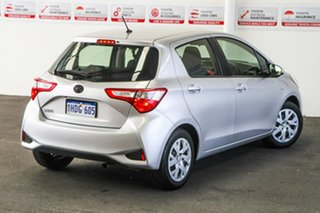 2017 Toyota Yaris NCP130R Ascent Silver Pearl 4 Speed Automatic Hatchback.