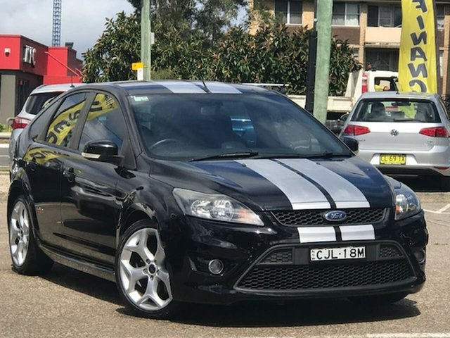 Used Ford Focus LV XR5 Turbo, 2010 Ford Focus LV XR5 Turbo Black 6 Speed Manual Hatchback