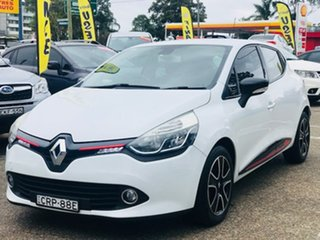 2013 Renault Clio IV B98 Expression EDC White 6 Speed Sports Automatic Dual Clutch Hatchback.