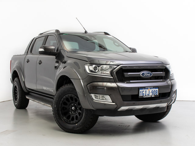 Used Ford Ranger PX MkII MY17 Update Wildtrak 3.2 (4x4), 2017 Ford Ranger PX MkII MY17 Update Wildtrak 3.2 (4x4) Grey 6 Speed Automatic Dual Cab Pick-up