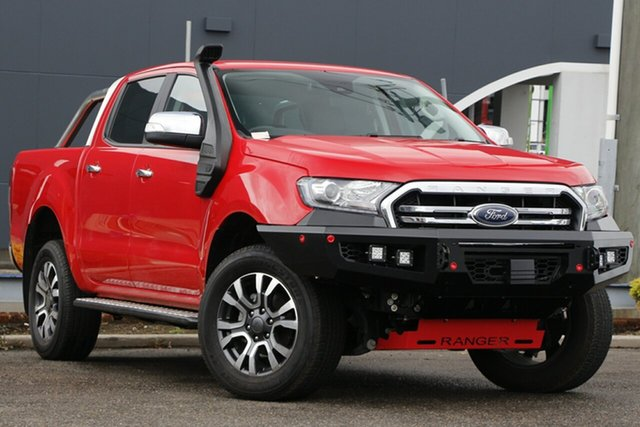 Used Ford Ranger PX MkIII 2019.00MY XLT Parramatta, 2019 Ford Ranger PX MkIII 2019.00MY XLT Red 10 Speed Sports Automatic Super Cab Pick Up