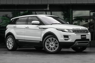 2012 Land Rover Range Rover Evoque L538 MY13 TD4 CommandShift Pure White 6 Speed Sports Automatic