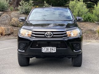2016 Toyota Hilux GUN126R SR Double Cab Black 6 Speed Sports Automatic Utility.