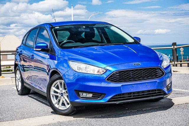 Used Ford Focus LZ Trend Christies Beach, 2016 Ford Focus LZ Trend Blue 6 Speed Automatic Hatchback