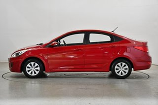 2017 Hyundai Accent RB4 MY17 Active Veloster Red 6 Speed Manual Sedan.