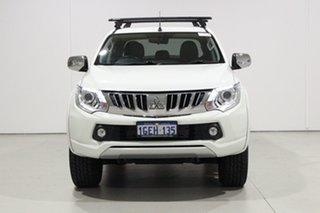 2016 Mitsubishi Triton MQ MY16 Exceed (4x4) White 5 Speed Automatic Dual Cab Utility.
