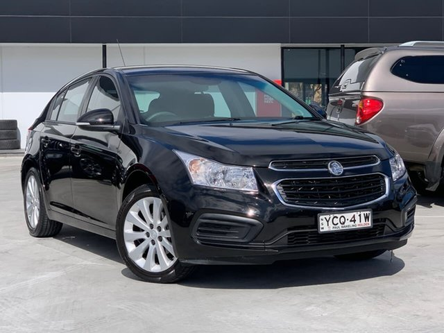 Used Holden Cruze JH Series II MY16 Equipe Liverpool, 2016 Holden Cruze JH Series II MY16 Equipe Black 6 Speed Sports Automatic Sedan