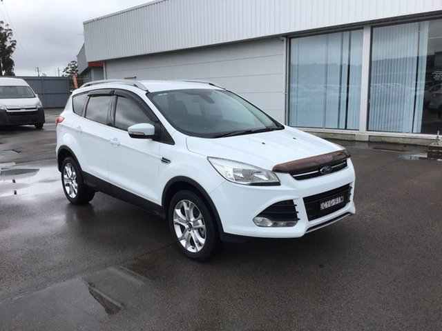Used Ford Kuga TF MY15 Trend AWD Cardiff, 2014 Ford Kuga TF MY15 Trend AWD White 6 Speed Sports Automatic Wagon