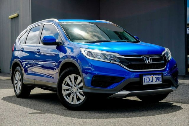 Used Honda CR-V RM Series II MY16 VTi Osborne Park, 2015 Honda CR-V RM Series II MY16 VTi Blue 5 Speed Automatic Wagon