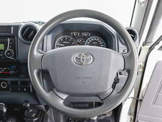 2018 Toyota Landcruiser VDJ79R MY18 Workmate (4x4) White 5 Speed Manual Cab Chassis