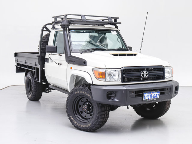 Used Toyota Landcruiser VDJ79R MY18 Workmate (4x4), 2018 Toyota Landcruiser VDJ79R MY18 Workmate (4x4) White 5 Speed Manual Cab Chassis