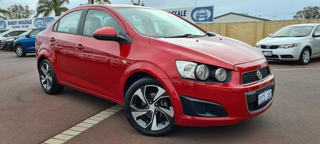 Used Holden Barina TM East Bunbury, 2012 Holden Barina TM Red 5 Speed Manual Sedan