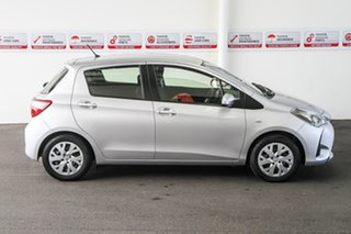 2017 Toyota Yaris NCP130R Ascent Silver Pearl 4 Speed Automatic Hatchback