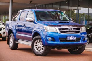 2013 Toyota Hilux KUN26R MY14 SR5 Double Cab Blue 5 Speed Automatic Utility.