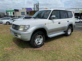 2001 Toyota Landcruiser Prado White 4 Speed Automatic Wagon.