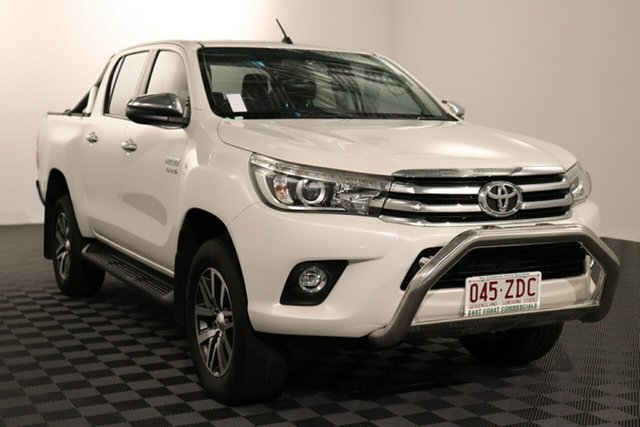 Used Toyota Hilux GUN126R SR5 Double Cab Acacia Ridge, 2018 Toyota Hilux GUN126R SR5 Double Cab Crystal Pearl 6 speed Automatic Utility