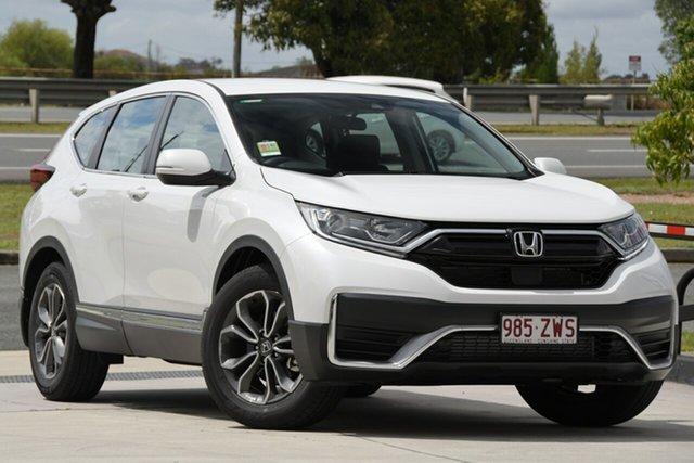 New Honda CR-V RW MY21 VTi FWD X Parramatta, 2021 Honda CR-V RW MY21 VTi FWD X Platinum White 1 Speed Constant Variable Wagon