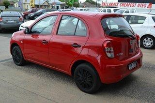 2012 Nissan Micra K13 ST Red 5 Speed Manual Hatchback.