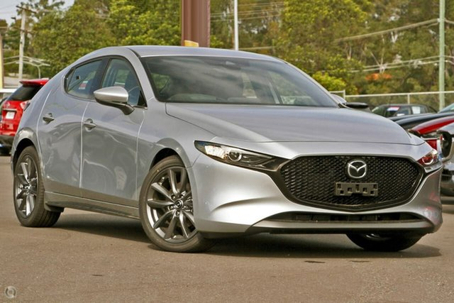 New Mazda 3 BP2HLA G25 SKYACTIV-Drive GT Waitara, 2020 Mazda 3 BP2HLA G25 SKYACTIV-Drive GT Silver 6 Speed Sports Automatic Hatchback