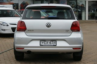 2015 Volkswagen Polo 6R MY16 81 TSI Comfortline Silver 6 Speed Manual Hatchback