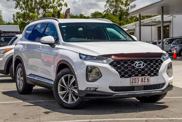 Used Hyundai Santa Fe TM.2 MY20 Elite Aspley, 2020 Hyundai Santa Fe TM.2 MY20 Elite White 8 Speed Sports Automatic Wagon