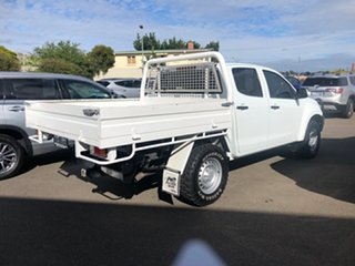 2015 Isuzu D-MAX MY15 SX Crew Cab White 5 Speed Sports Automatic Cab Chassis.