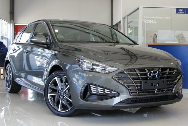 New Hyundai i30 PD.V4 MY21 Active Nunawading, 2020 Hyundai i30 PD.V4 MY21 Active Iron Grey 6 Speed Sports Automatic Hatchback