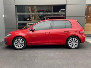 2009 Volkswagen Golf VI MY10 103TDI DSG Comfortline Red 6 Speed Sports Automatic Dual Clutch.