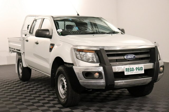 Used Ford Ranger PX XL Acacia Ridge, 2013 Ford Ranger PX XL White 6 speed Manual Cab Chassis