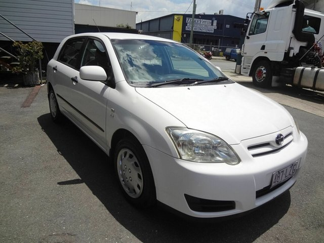 Used Toyota Corolla ZZE122R Ascent Seca Coopers Plains, 2005 Toyota Corolla ZZE122R Ascent Seca White 4 Speed Automatic Hatchback