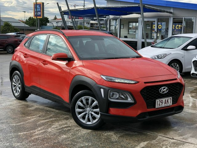 Used Hyundai Kona OS.2 MY19 Go 2WD Chermside, 2019 Hyundai Kona OS.2 MY19 Go 2WD Orange 6 Speed Sports Automatic Wagon