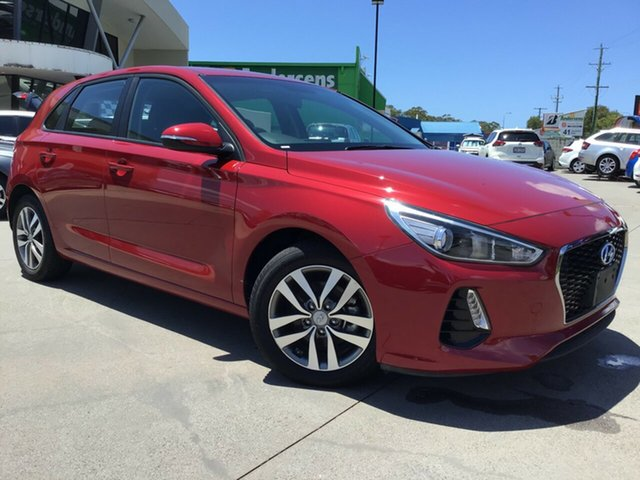 Used Hyundai i30 PD MY18 Active Caloundra, 2018 Hyundai i30 PD MY18 Active Red 6 Speed Sports Automatic Hatchback