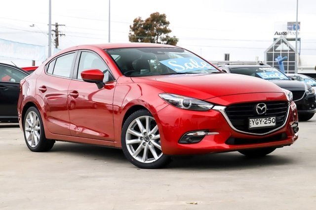 Used Mazda 3 BM5238 SP25 SKYACTIV-Drive GT Kirrawee, 2016 Mazda 3 BM5238 SP25 SKYACTIV-Drive GT Red 6 Speed Sports Automatic Sedan