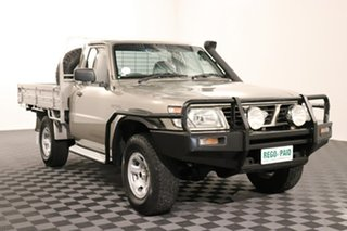 2001 Nissan Patrol GU DX Gold 5 speed Manual Cab Chassis.