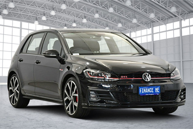 Used Volkswagen Golf 7.5 MY19.5 GTI DSG Victoria Park, 2019 Volkswagen Golf 7.5 MY19.5 GTI DSG Deep Black Pearl Effect 7 Speed Sports Automatic Dual Clutch
