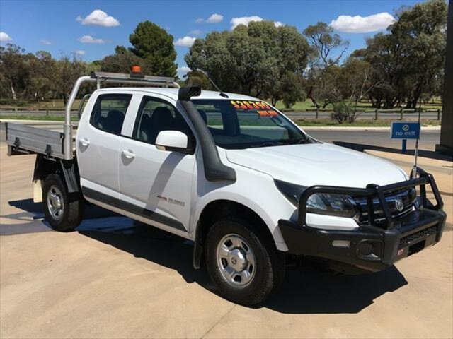 Used Holden Colorado RG MY18 LS Crew Cab Berri, 2017 Holden Colorado RG MY18 LS Crew Cab White 6 Speed Sports Automatic Cab Chassis