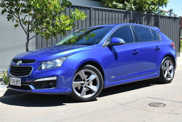 Used Holden Cruze JH Series II MY16 SRI Z-Series Brighton, 2015 Holden Cruze JH Series II MY16 SRI Z-Series Blue 6 Speed Sports Automatic Hatchback