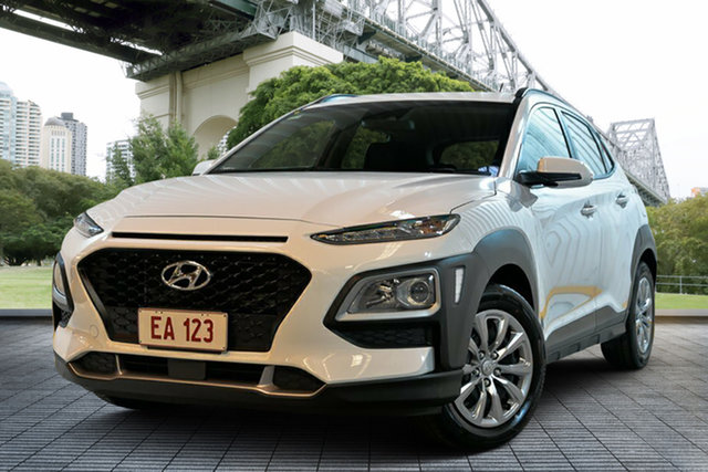 Used Hyundai Kona OS.2 MY19 Go 2WD, 2018 Hyundai Kona OS.2 MY19 Go 2WD White 6 Speed Sports Automatic Wagon