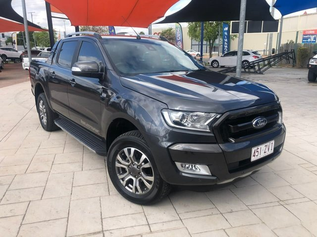 Used Ford Ranger PX MkII Wildtrak Double Cab Mundingburra, 2016 Ford Ranger PX MkII Wildtrak Double Cab Grey 6 Speed Sports Automatic Utility
