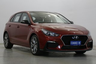 2018 Hyundai i30 PD.3 MY19 N Line D-CT Fiery Red 7 Speed Sports Automatic Dual Clutch Hatchback