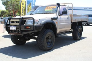 2002 Nissan Patrol GU ST Gold 5 Speed Manual Cab Chassis.