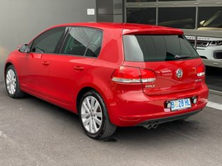 2009 Volkswagen Golf VI MY10 103TDI DSG Comfortline Red 6 Speed Sports Automatic Dual Clutch