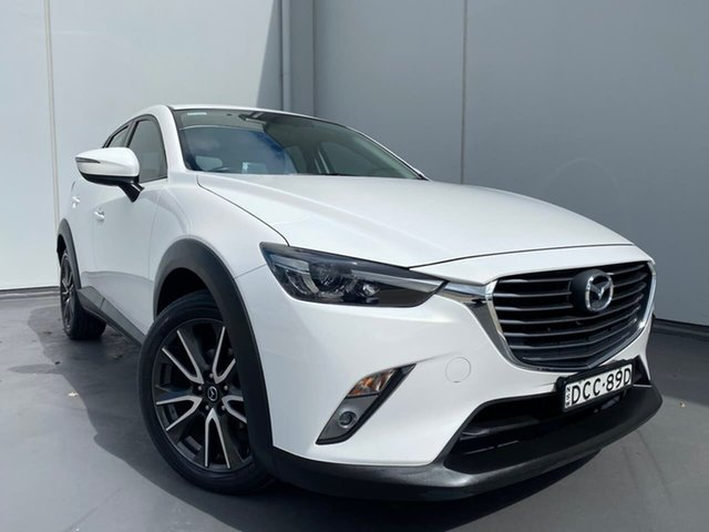 Used Mazda CX-3 DK2W7A sTouring SKYACTIV-Drive Liverpool, 2015 Mazda CX-3 DK2W7A sTouring SKYACTIV-Drive White 6 Speed Sports Automatic Wagon
