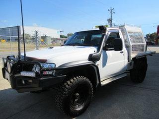2008 Nissan Patrol GU 6 MY08 ST Abalone White 5 Speed Manual Trayback.