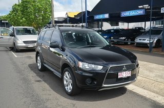 2012 Mitsubishi Outlander ZH MY12 LS (FWD) Black 6 Speed CVT Auto Sequential Wagon.