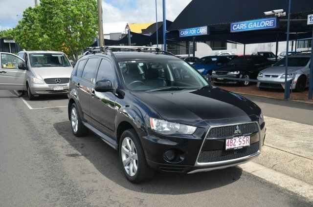 Used Mitsubishi Outlander ZH MY12 LS (FWD) Toowoomba, 2012 Mitsubishi Outlander ZH MY12 LS (FWD) Black 6 Speed CVT Auto Sequential Wagon