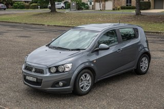 2014 Holden Barina TM MY15 CD Trio Grey 6 Speed Automatic Hatchback.